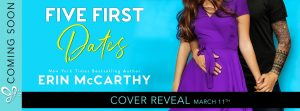 Cover Reveal: Five First Dates by Erin McCarthy (March 11th)